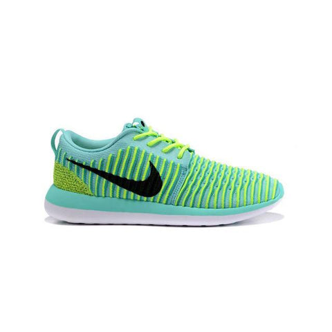 Nike Roshe Two Flyknit Jade Yellow Black Men