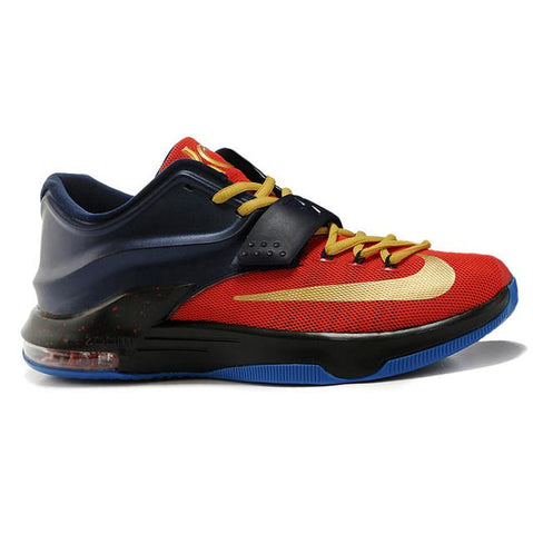 Nike Zoom Kevin Durant VII Men Shoes 2015 New Black Red Gold Blue