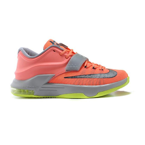 Nike Zoom Kevin Durant VII Shoes 2015 Releases Light Orange Silver Green Hot