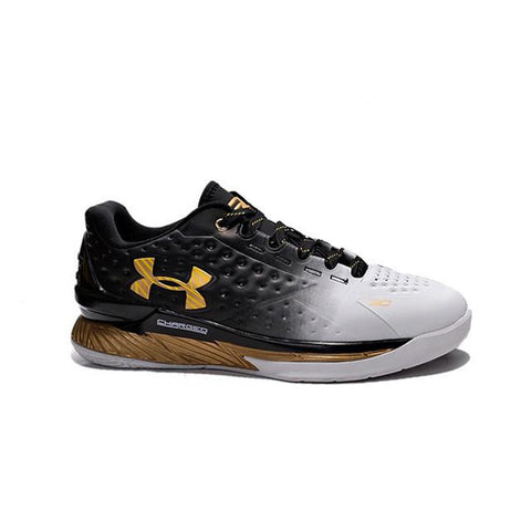 UA Curry 1 Low MVP Under Armour Stephen Curry One Low MVP Black White Golden