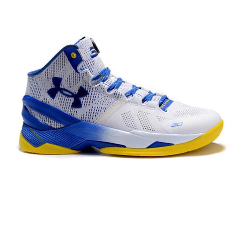 Under Armour Curry 2 White Blue Yellow Men