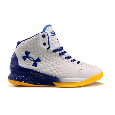 Under Armour Curry One Playoff Basketball Shoes Blue White
