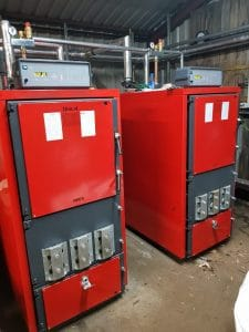 [Used] Unical biomass boiler with RHI - 3x 200kW log boiler
