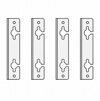 Hanging brackets, separate. 4-piece set - Wolf