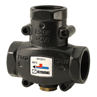 ESBE Range Load Protection Valves VTC511 25-9 RP1 75°C - ESBE