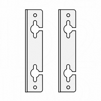 Hanging brackets, separate. 2-piece set - Wolf