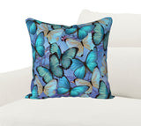 Morpho Blue Pillow