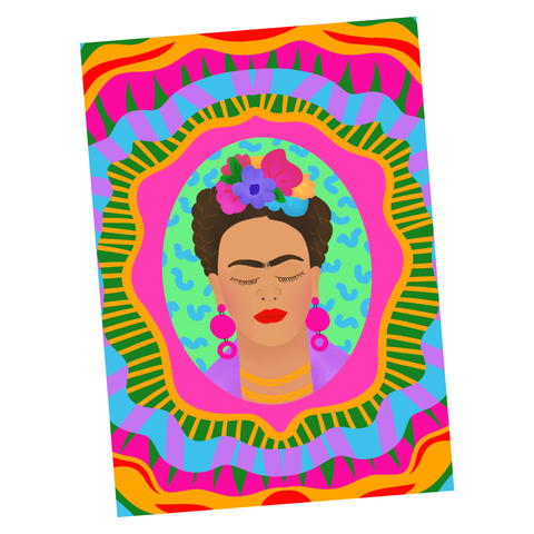 Frida Kahlo, Illustration Artwork - Poster Print
