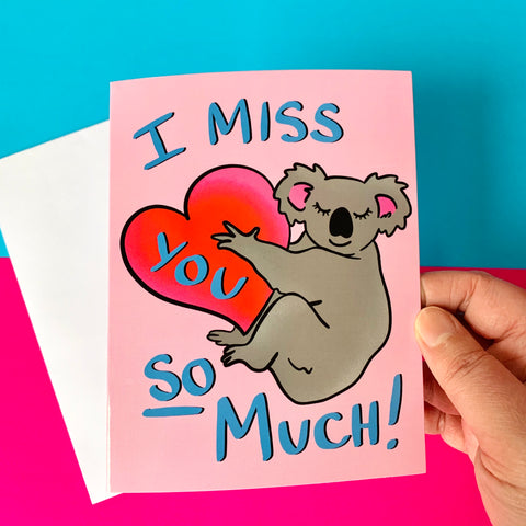 I miss you so much! - illustration Card - Gloss (blank inside)