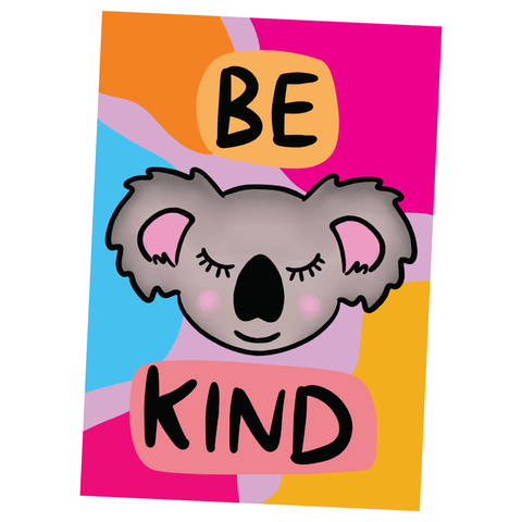 Be Kind, Illustration Artwork - Poster Print