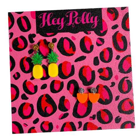 Earring Display Board - Black, red + hot pink