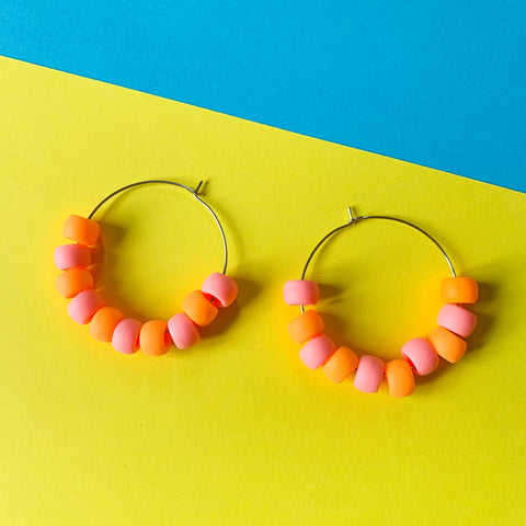 DANGLE - Jessie Hoop (pastel pink + peachy orange)