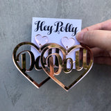 DANGLE - Doll Hearts (rose gold mirror)