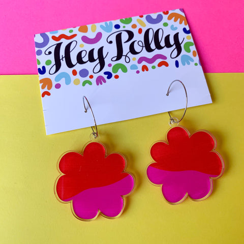 DANGLE - Bloom hoops (gloss acrylic)