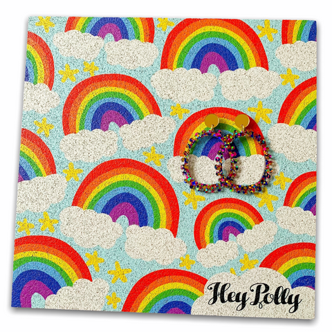 Earring Display Board - Rainbows