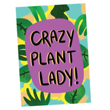 Crazy Plant Lady, Illustration Artwork - Poster Print
