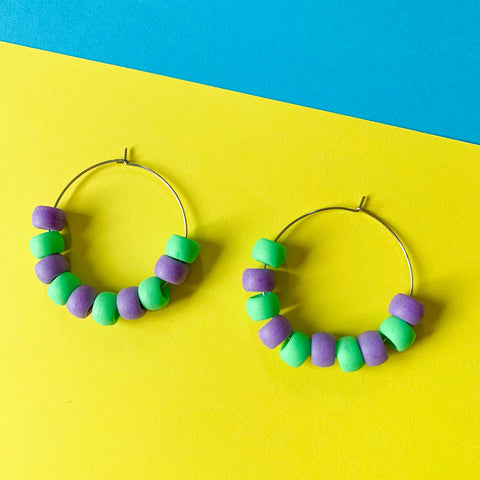 DANGLE - Jessie Hoop (purple + green)