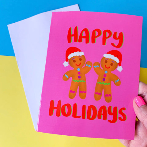 Happy Holidays - illustration Card - Gloss (blank inside)