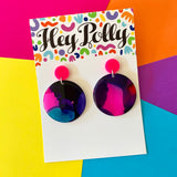 DANGLE + Hoops - Mid + Mega Size Disc (Ink small batch #3, resin artwork)