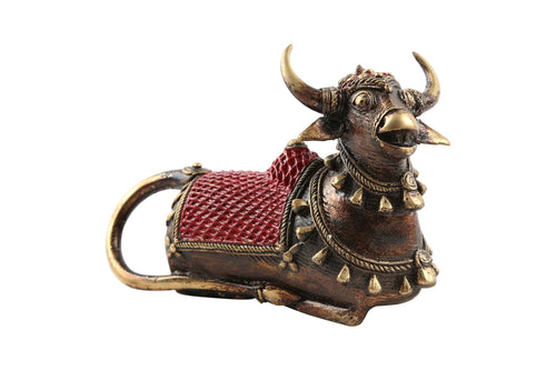 Dhokra Bull Red