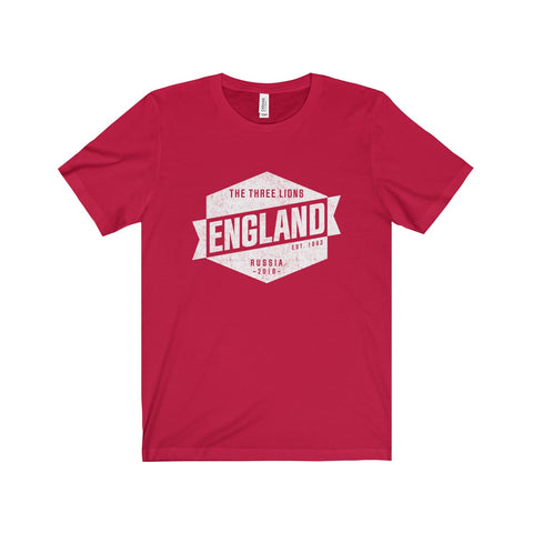 "England - Vintage ""Three Lions"" World Cup Russia 2018 T-Shirt"