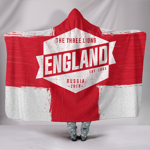 England - Vintage World Cup Russia 2018 Hooded Blanket - Express Shipping