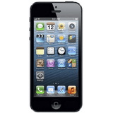 Refurbished Apple iPhone 5 in black front view