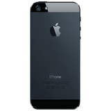 Refurbished Apple iPhone 5 in black rear view