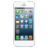 Refurbished Apple iPhone 5 in white front view