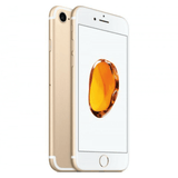 Refurbished Apple iPhone 7 in gold front and rear view
