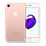 Refurbished Apple iPhone 7 in rose gold front and rear view