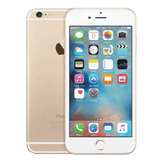 Refurbished Apple iPhone 6 in gold front and rear view