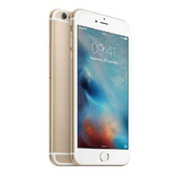 Refurbished Apple iPhone 6 in gold side front and rear view