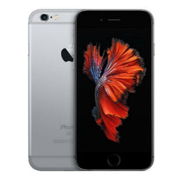 Refurbished Apple iPhone 6S in space grey front and rear view