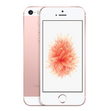 Refurbished Apple iPhone SE in rose gold front and rear view