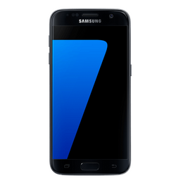 Refurbished Samsung Galaxy S7 in black front view