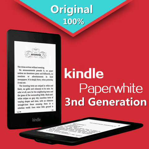 Kindle Paperwhite 3nd Generation Black 4GB eBook Reader With built-in backlight