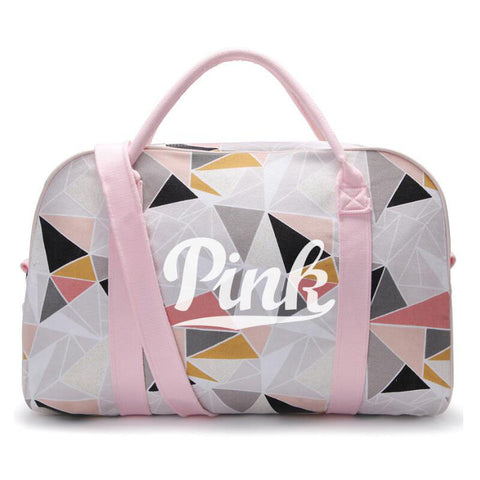 Pink Chuwanglin Fashion canvas and casual travel bag For Women