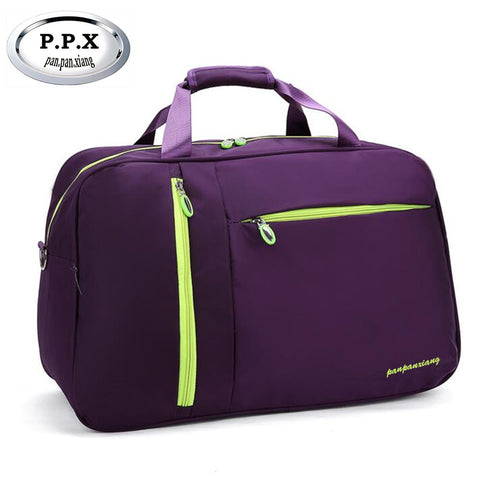 P.P.X Women Solid Waterproof and Nylon Travel Bag