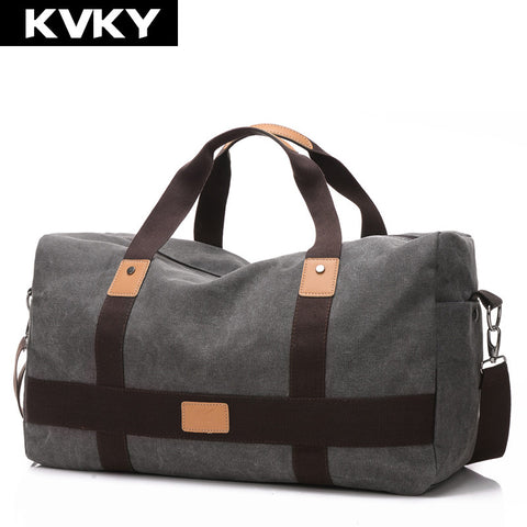KVKY New Vintage Men Canvas Travel Duffle Bag