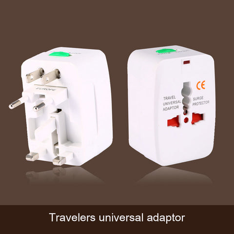 High Quality 4 in 1 EU/AU/UK/US Charger Plug To Universal World Travel AC Power Plug Convertor Adapter Socket White Colors+ Bags