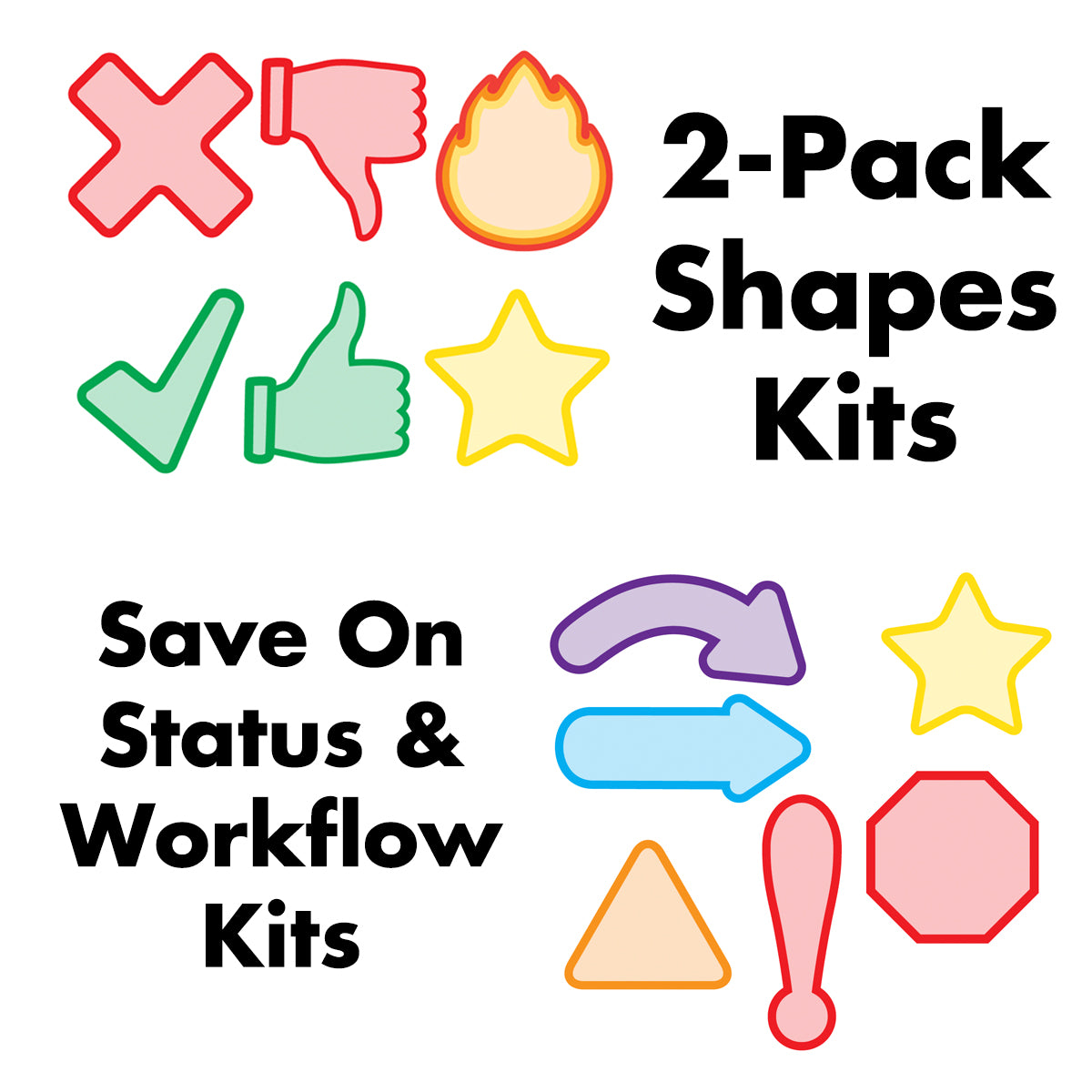 2-Pack Shapes Kits