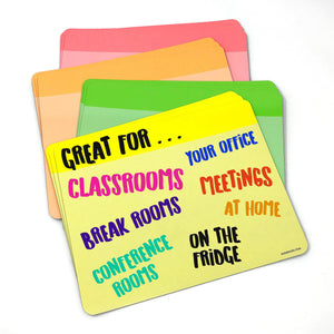 Jumbo Neon Dry Erase Whiteboard Magnets - 12 Cards