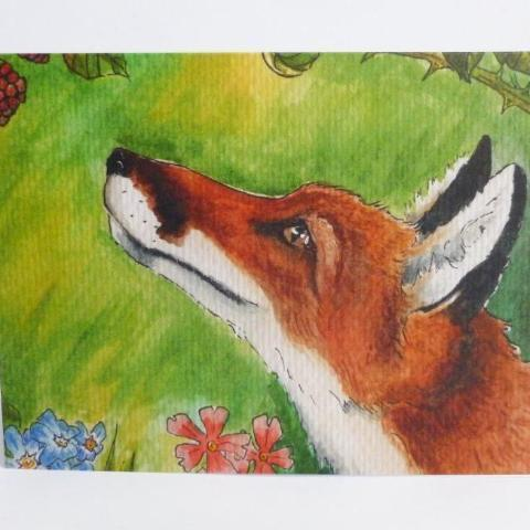 Red Fox Notecard
