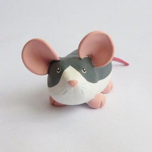Roan Husky Rat Dumpy Rat Small Ornament Sculpture