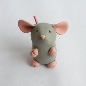 Blue Dumbo Dumpy Rat Small Ornament Sculpture