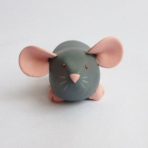 Marten Grey Dumbo Dumpy Rat Small Ornament Sculpture