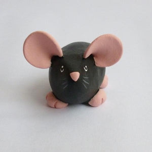 Black Dumpy Rat Small Ornament Sculpture