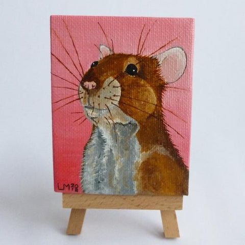 Agouti Rat Original Acrylic Painting On Canvas