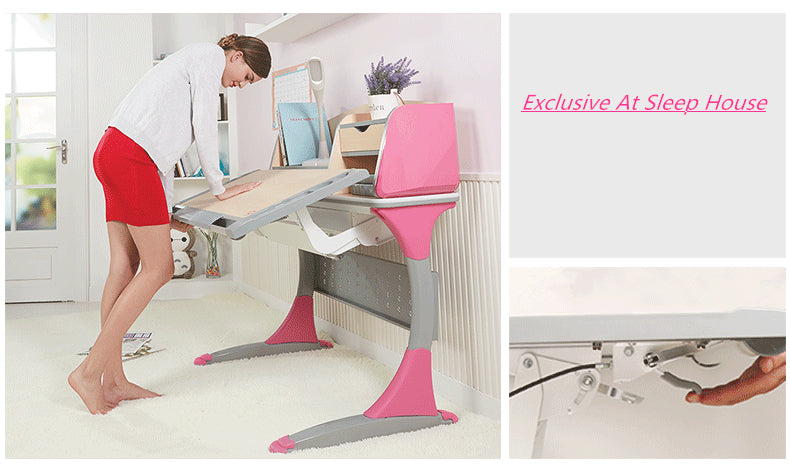 Istudy Ergonomic Children Desk S100B adjust the height in a second
